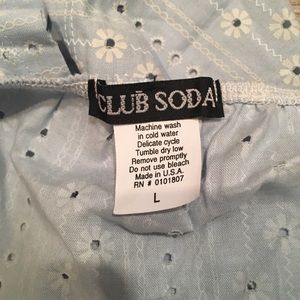 Club Soda Tops - Strapless Crop Top
